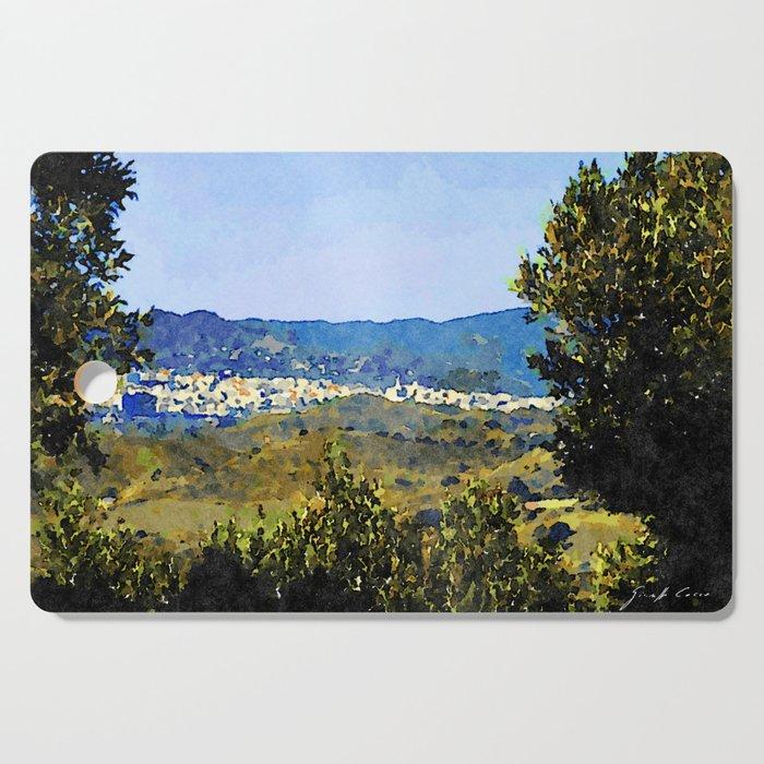 Calabria Landscape With Catanzaro City And Sila Mountain