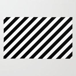Diagonal Stripes (Black/White) Rug
