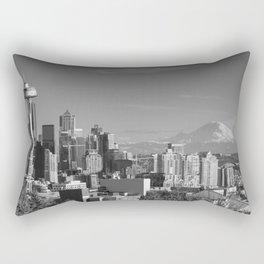 Seattle Winter White Rectangular Pillow