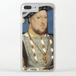 Henry VIII - Hans Holbein the Younger Clear iPhone Case