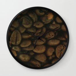 Coffee pattern, fine art photo, Coffeehouse, shops, bar & restaurants, still life, interior design Wall Clock