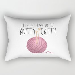 Let's Get Down To The Knitty-Gritty Rectangular Pillow