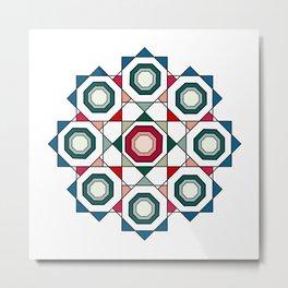Tile mandala Metal Print
