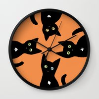 kittens Wall Clocks featuring Kittens by Bolkonsky
