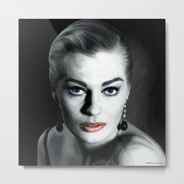 Anita Ekberg Large Size Portrait Metal Print