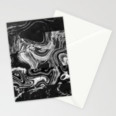 Black and White Marble 2 Stationery Cards
