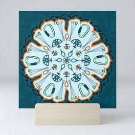 Trad Climbing Mandala Mini Art Print