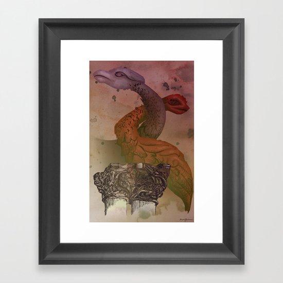 dragons de Cluny Framed Art Print