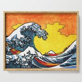 The Great Wave off Kanagawa Tribute Serving Tray