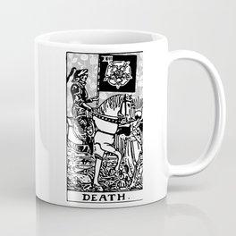 Floral Tarot Print - Death Coffee Mug