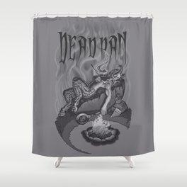 DEADPAN Shower Curtain