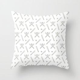 Baseball sport pattern Throw Pillow