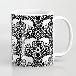 Elephant Damask Black and White Coffee Mug