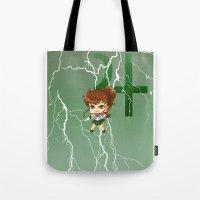 sailor jupiter Tote Bags featuring Sailor Jupiter by artwaste
