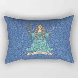 Vintage Astrology - Virgo Rectangular Pillow