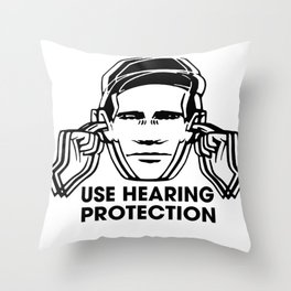 FAC 1 tribute - Factory Records - Use Hearing Protection Throw Pillow