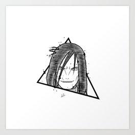 Orochimaru Sketch Handmade Drawing - Tattoo Flash Art Print