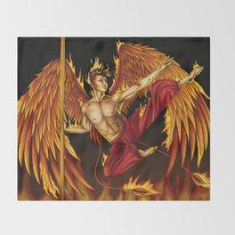 Pole Creatures - Phoenix Throw Blanket