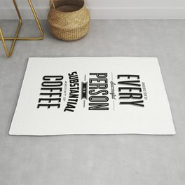 Behind Every Successful Person is a Substantial Amount of Coffee home room wall decor typography Rug