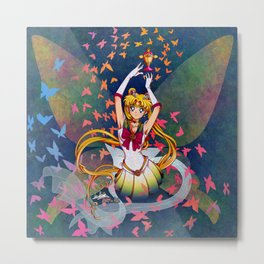 Super Sailor Moon and Rainbow Moon Chalice Metal Print