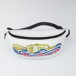 Colombian Sombrero Vueltiao in Colombian Flag Colors Fanny Pack