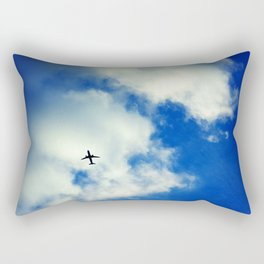 Airplane in the Blue Sky Rectangular Pillow