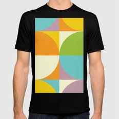 Quarters Quilt 2 MEDIUM Mens Fitted Tee Black