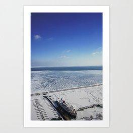 Frozen Lake Michigan 2!  Art Print