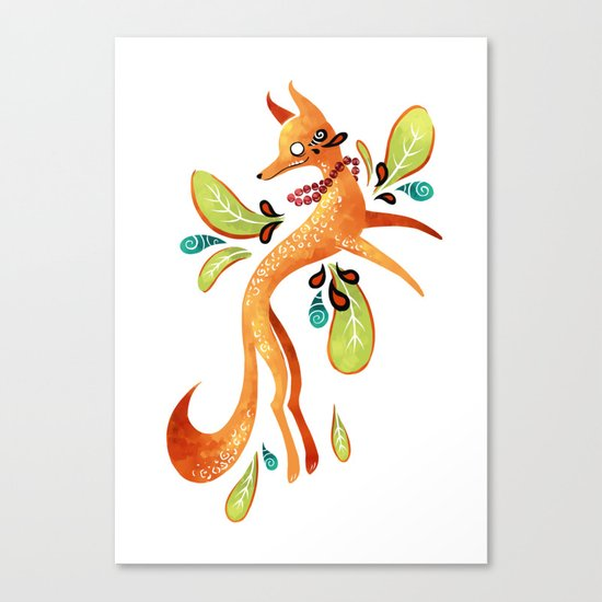 Autumn Fox Canvas Print