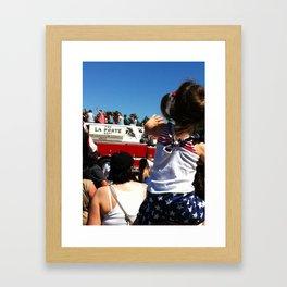 Wave to the Fireman! Framed Art Print