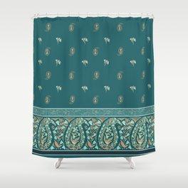 Garden Flowers Paisley Shower Curtain