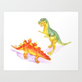 Toy Dinosaurs Art Print