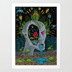 Part of Nature (in color) Art Print