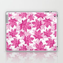 Pink maple leaves Laptop & iPad Skin