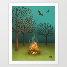 Fireside Art Print