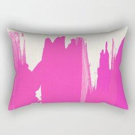 Pink Paint Layers Rectangular Pillow