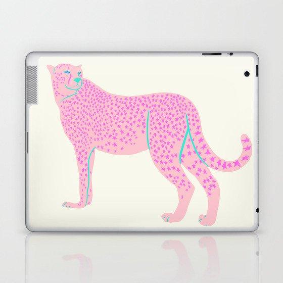 PINK STAR CHEETAH Laptop & iPad Skin