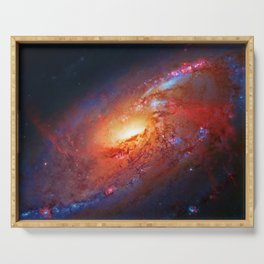 Spiral Galaxy in the Hunting Dogs constellation Serving Tray