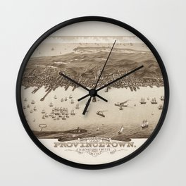 Map of Provincetown 1882 Wall Clock