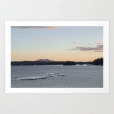 Lake and mountain Art Print