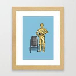 C3PO & Trash Framed Art Print