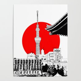tokyo skytree red dot 1 Poster
