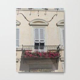 Italian Windows Metal Print
