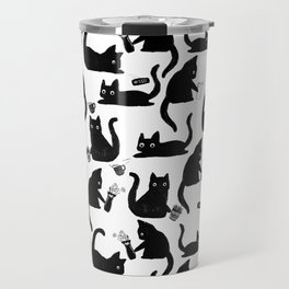 Bad Cats Knocking Stuff Over Travel Mug