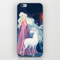 the last unicorn iPhone & iPod Skins featuring The Last Unicorn by Tami Wicinas