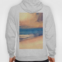Approaching Sunset Abstract Seascape Hoody