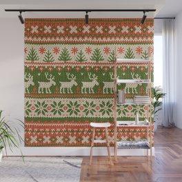 Ugly Christmas Sweater Digital Knit Pattern 4 Wall Mural