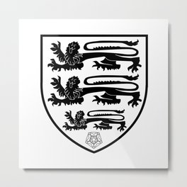 British Three Lions Crest Metal Print