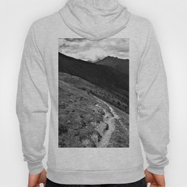 narrow hiking path alps serfaus fiss ladis tyrol austria europe black white Hoody