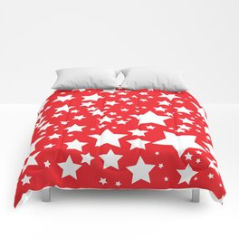 Red with white stars Comforters
